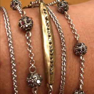Lucky Brand 5 Strand silver/gold Bracelet NWT